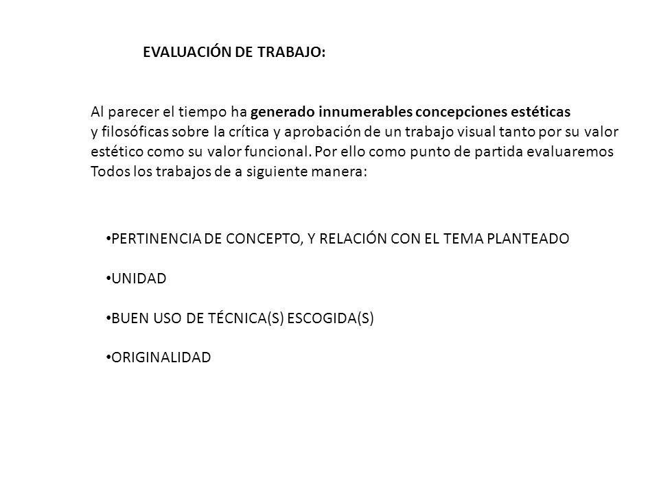 EVALUACIÓN DE TRABAJO:
