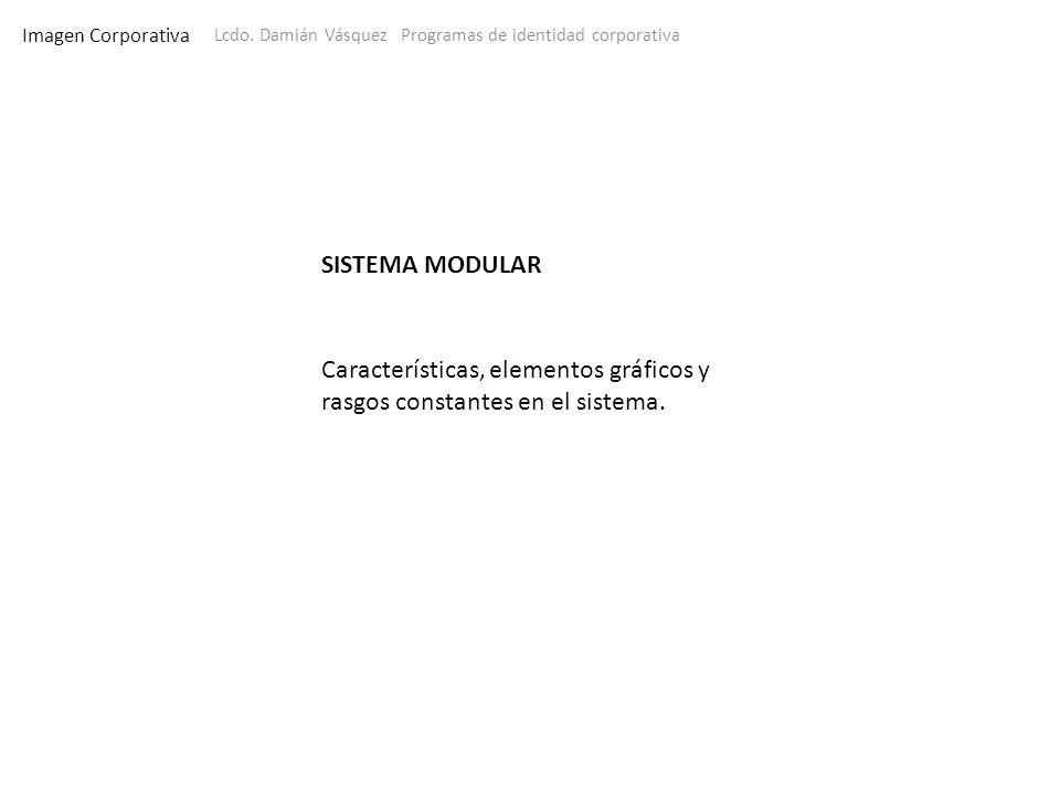 Características, elementos gráficos y rasgos constantes en el sistema.