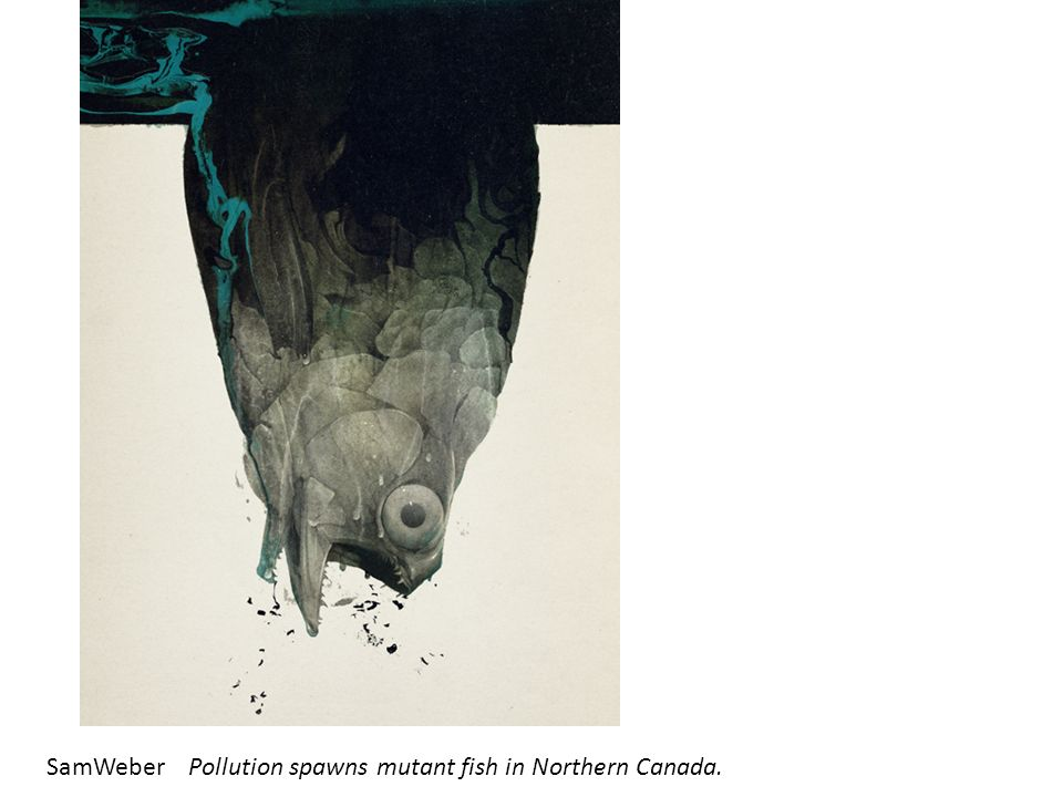 SamWeber Pollution spawns mutant fish in Northern Canada.