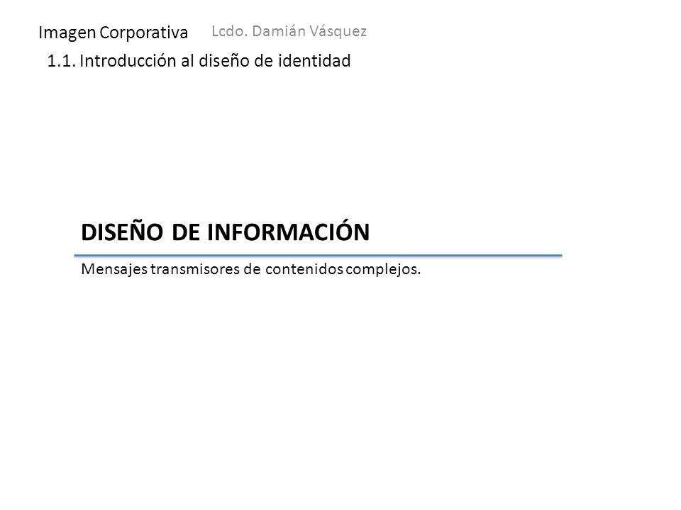 DISEÑO DE INFORMACIÓN Imagen Corporativa