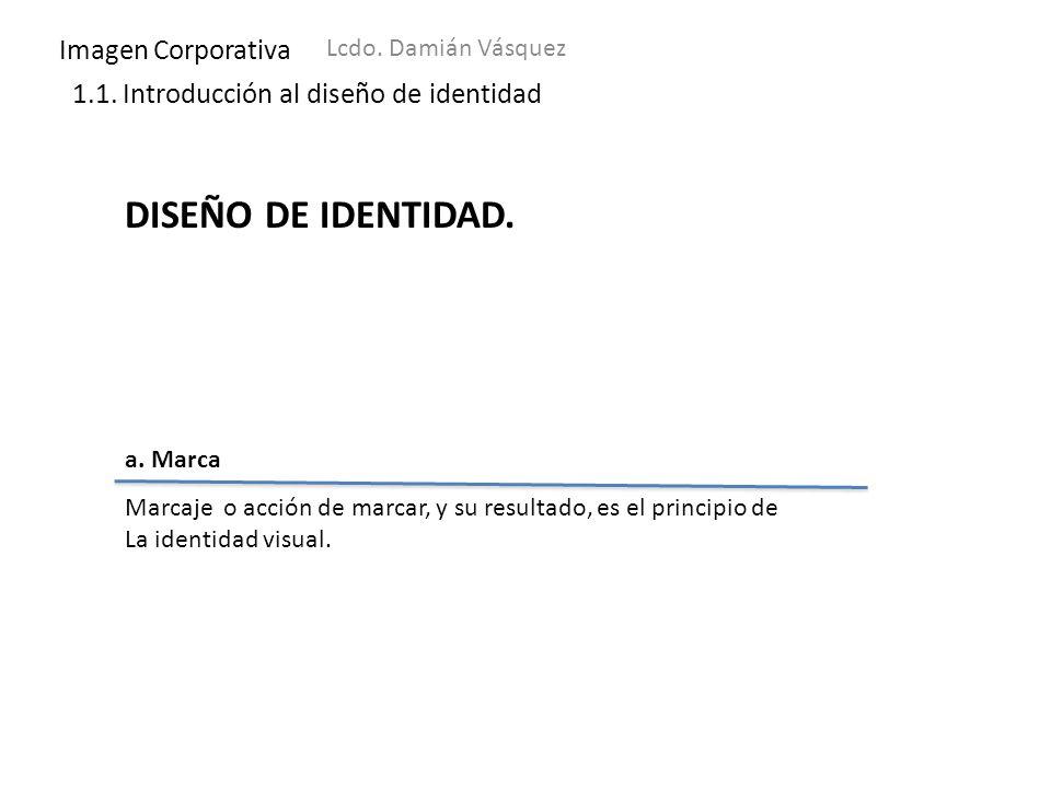 DISEÑO DE IDENTIDAD. Imagen Corporativa