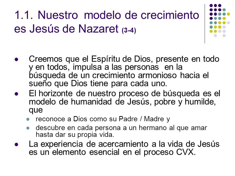 1.1. Nuestro modelo de crecimiento es Jesús de Nazaret (3-4)