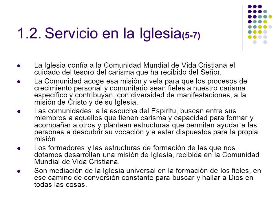 1.2. Servicio en la Iglesia(5-7)