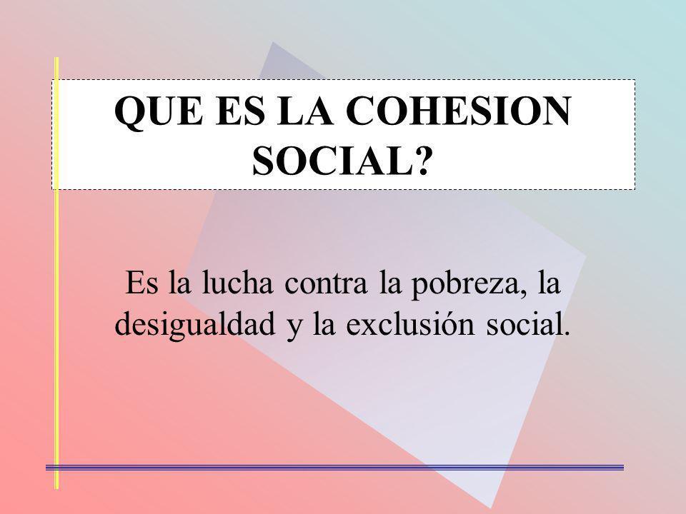 QUE ES LA COHESION SOCIAL