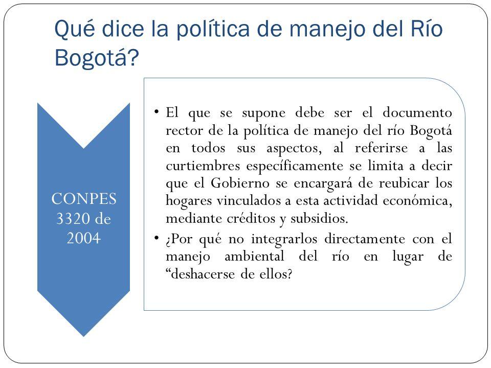 Qué dice la política de manejo del Río Bogotá