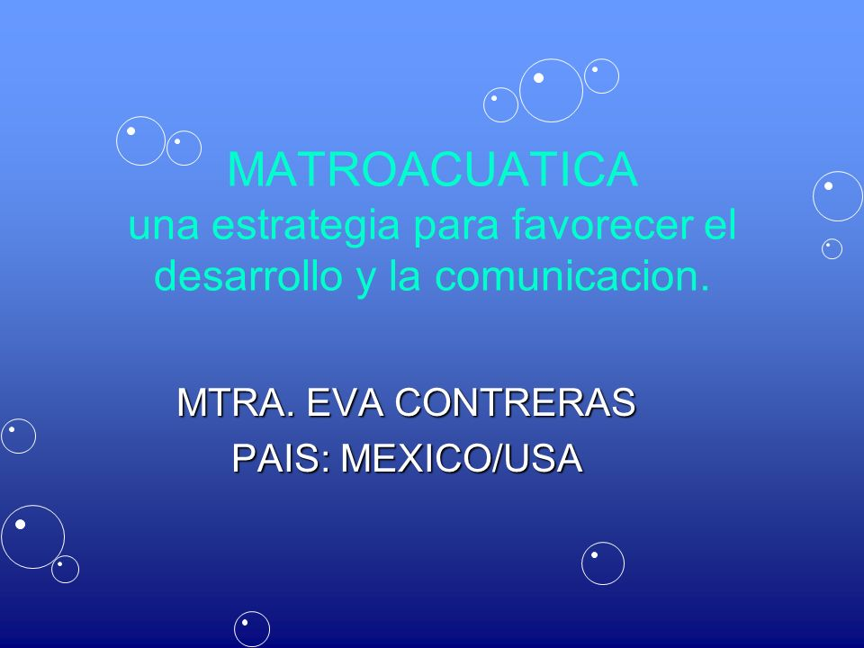 MTRA. EVA CONTRERAS PAIS: MEXICO/USA