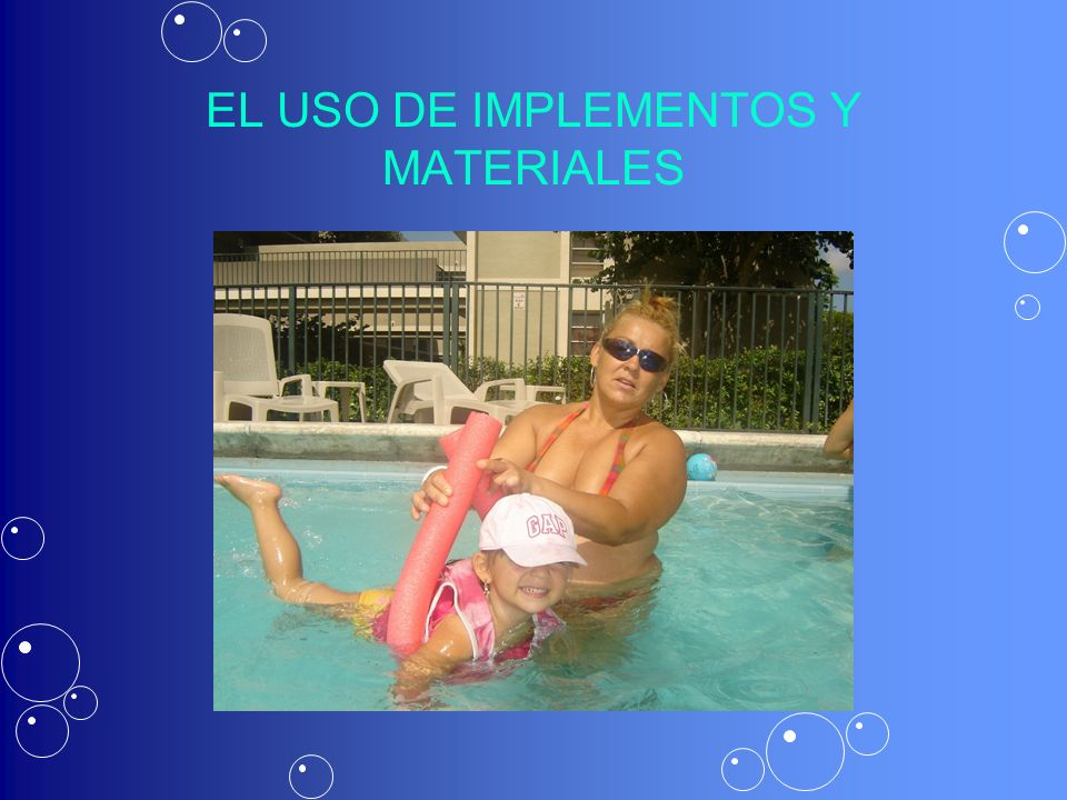 EL USO DE IMPLEMENTOS Y MATERIALES