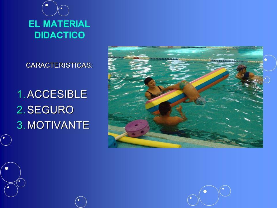 EL MATERIAL DIDACTICO CARACTERISTICAS: ACCESIBLE SEGURO MOTIVANTE