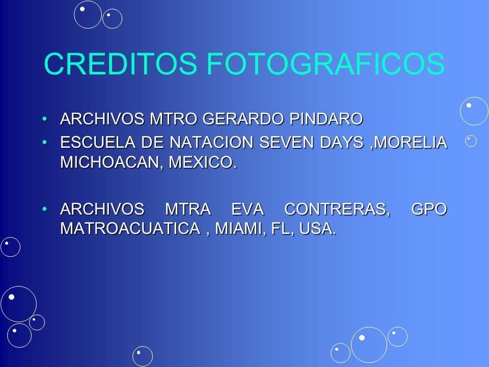 CREDITOS FOTOGRAFICOS