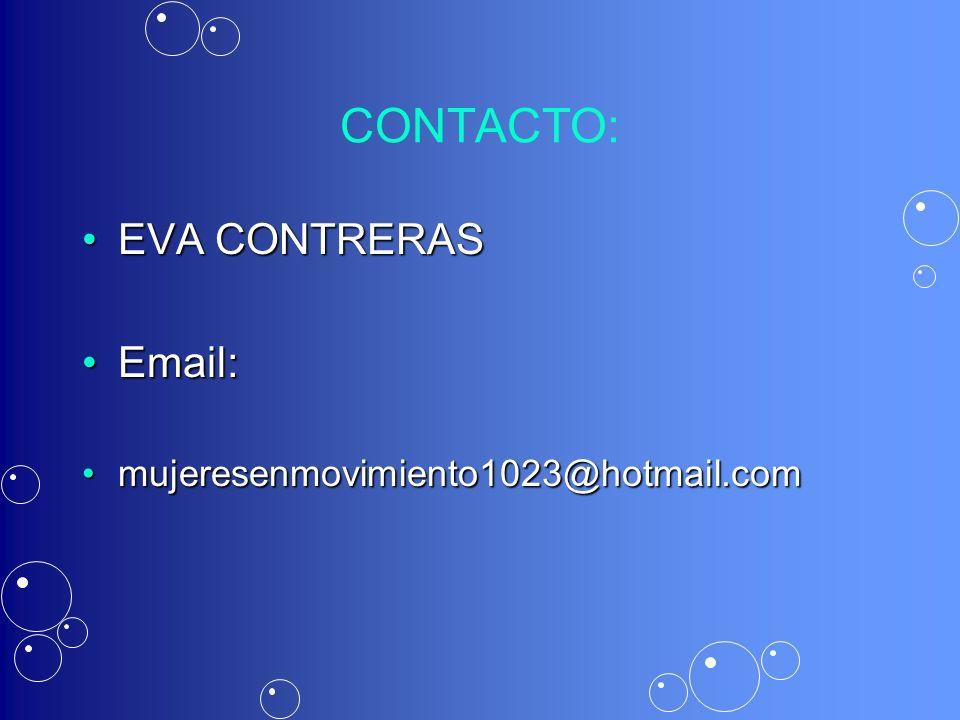 CONTACTO: EVA CONTRERAS Email: