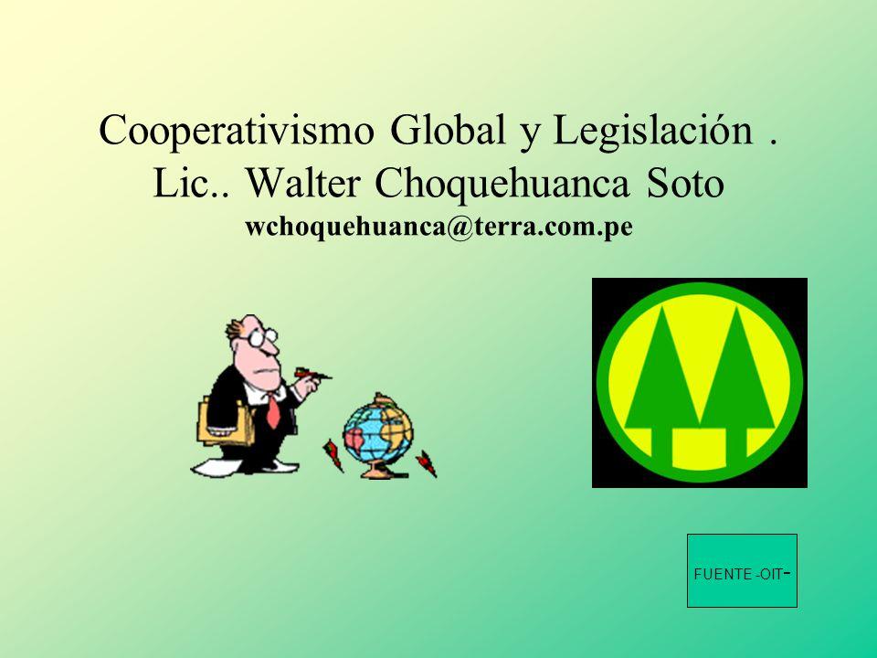 Cooperativismo Global y Legislación. Lic