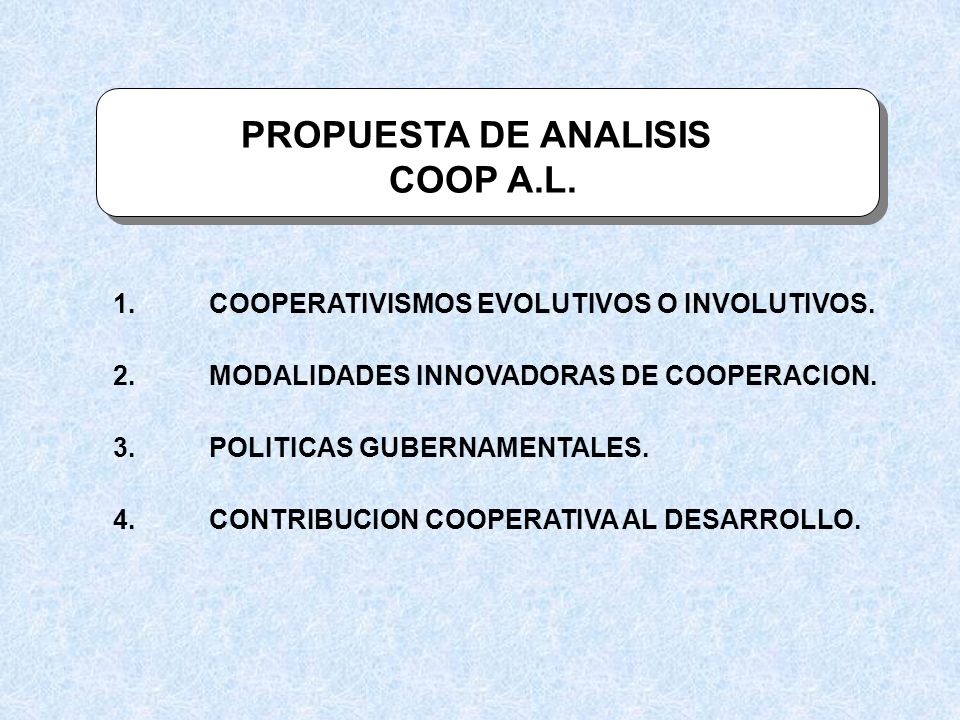 PROPUESTA DE ANALISIS COOP A.L.