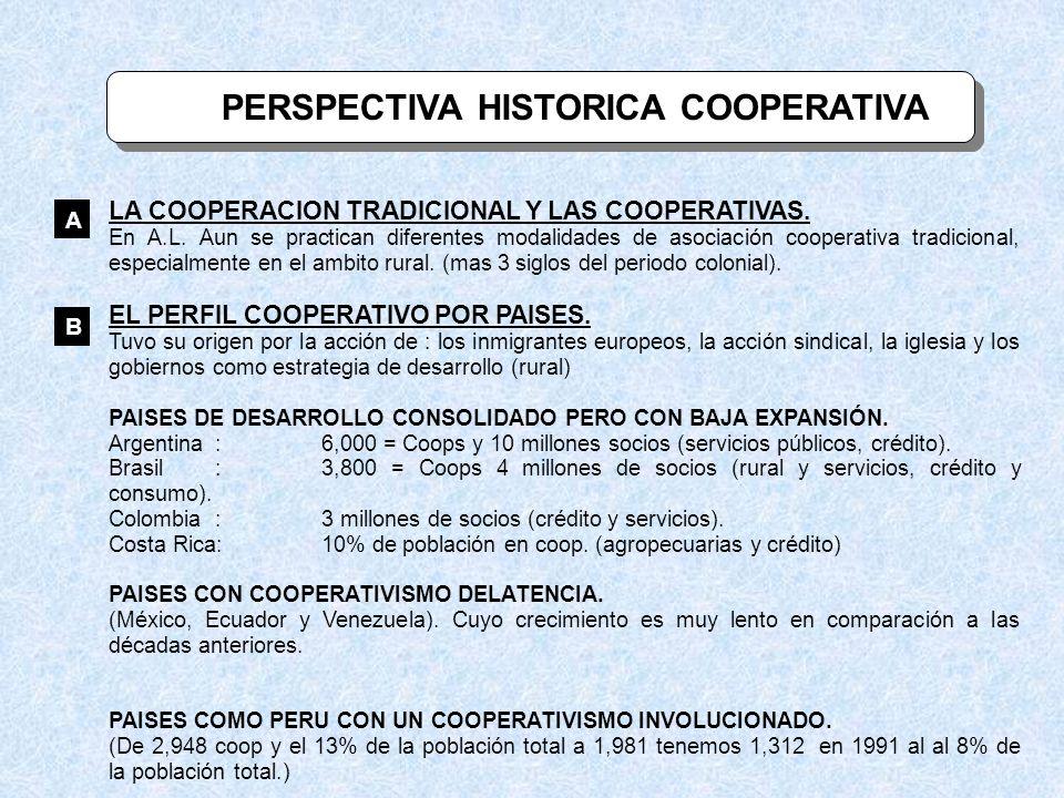 PERSPECTIVA HISTORICA COOPERATIVA