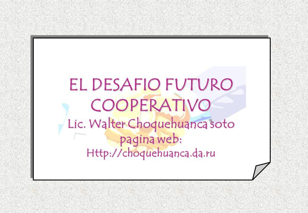 EL DESAFIO FUTURO COOPERATIVO
