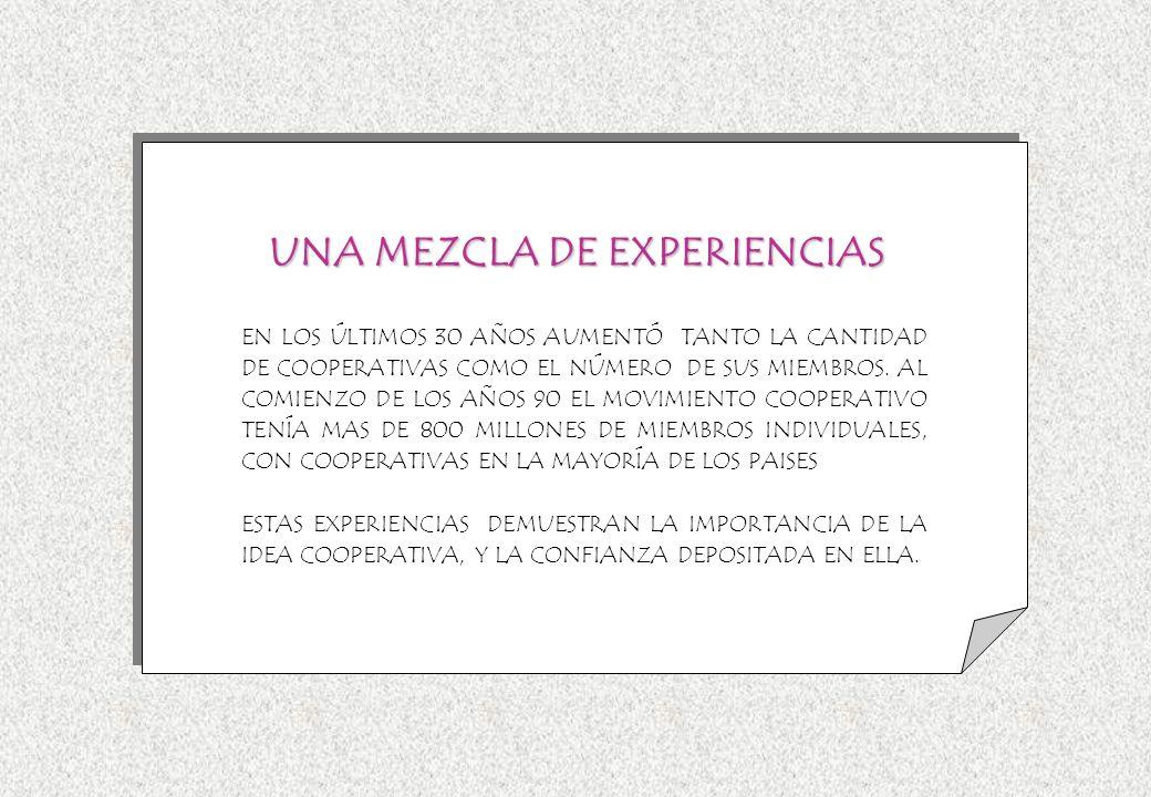 UNA MEZCLA DE EXPERIENCIAS