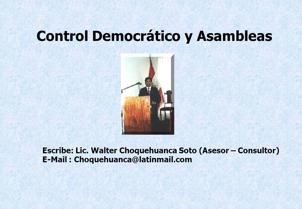 Control Democrático y Asambleas