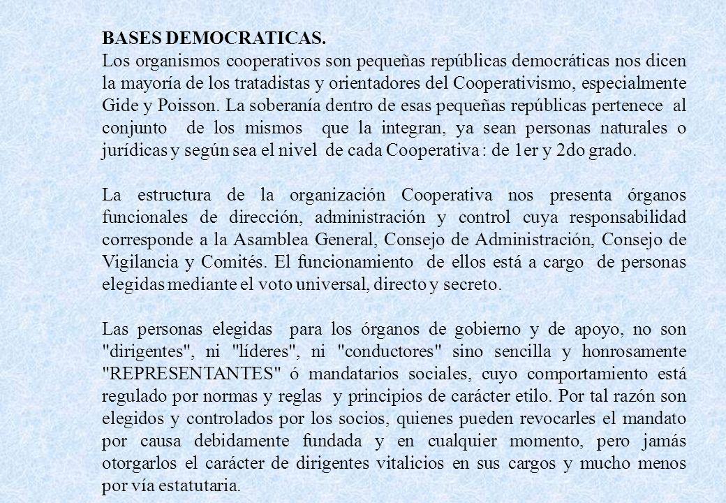 BASES DEMOCRATICAS.