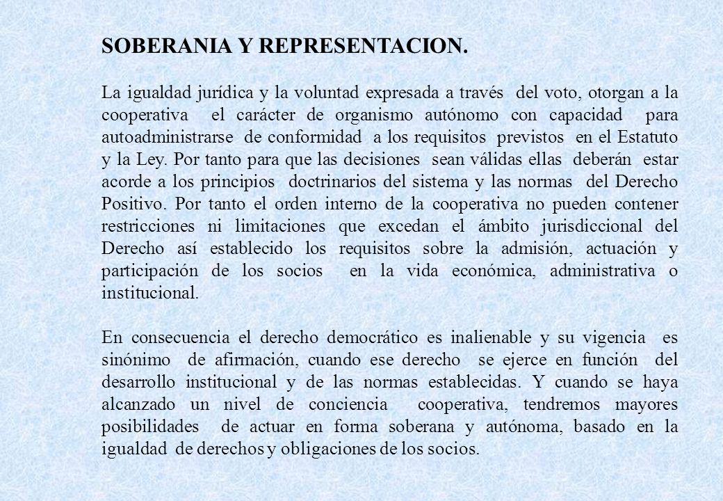 SOBERANIA Y REPRESENTACION.