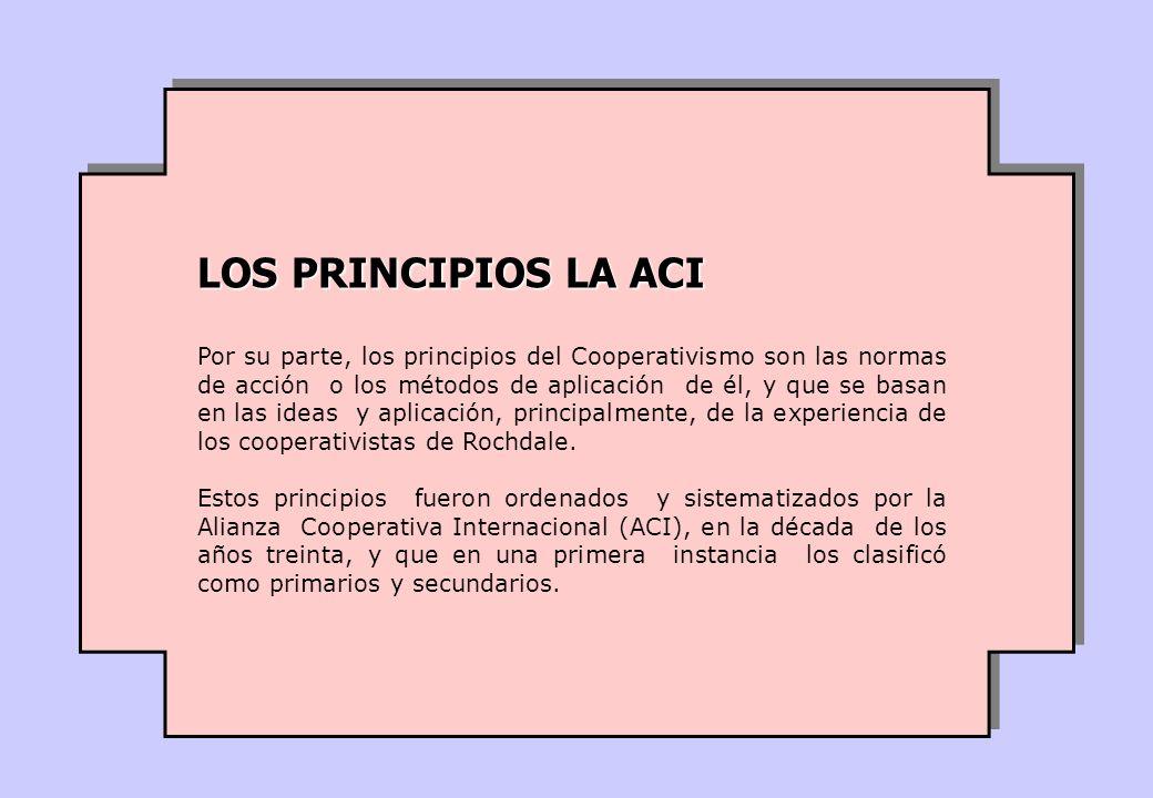LOS PRINCIPIOS LA ACI
