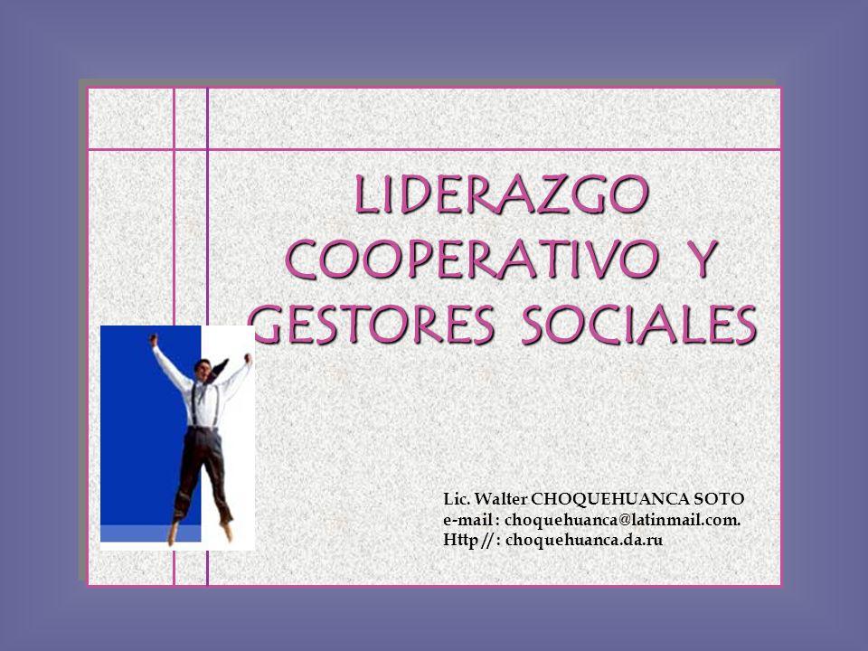 LIDERAZGO COOPERATIVO Y GESTORES SOCIALES