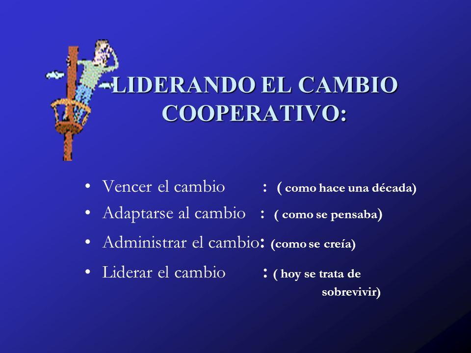 LIDERANDO EL CAMBIO COOPERATIVO:
