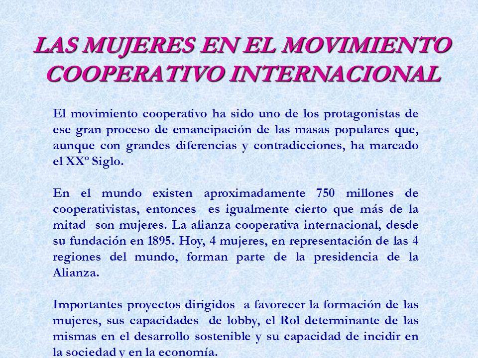 LAS MUJERES EN EL MOVIMIENTO COOPERATIVO INTERNACIONAL