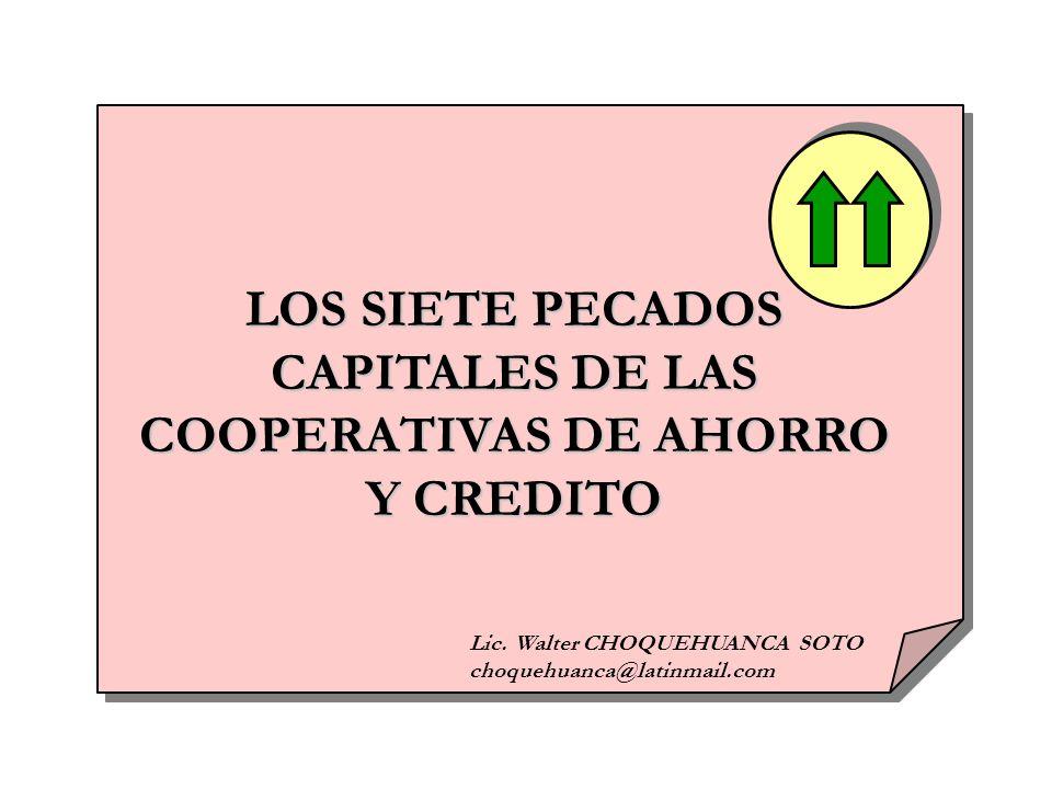 CAPITALES DE LAS COOPERATIVAS DE AHORRO Y CREDITO