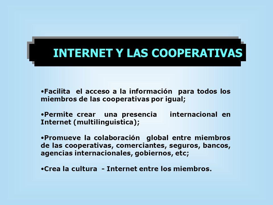 INTERNET Y LAS COOPERATIVAS