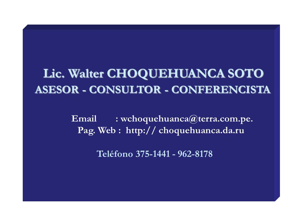 Lic. Walter CHOQUEHUANCA SOTO