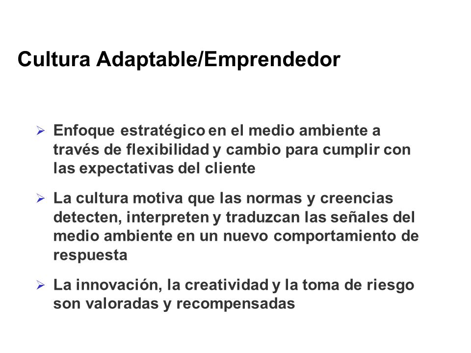 Cultura Adaptable/Emprendedor