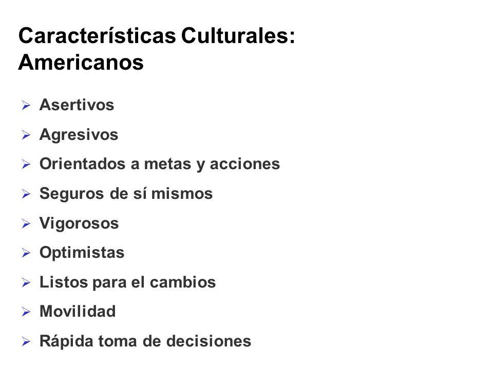 Características Culturales: Americanos