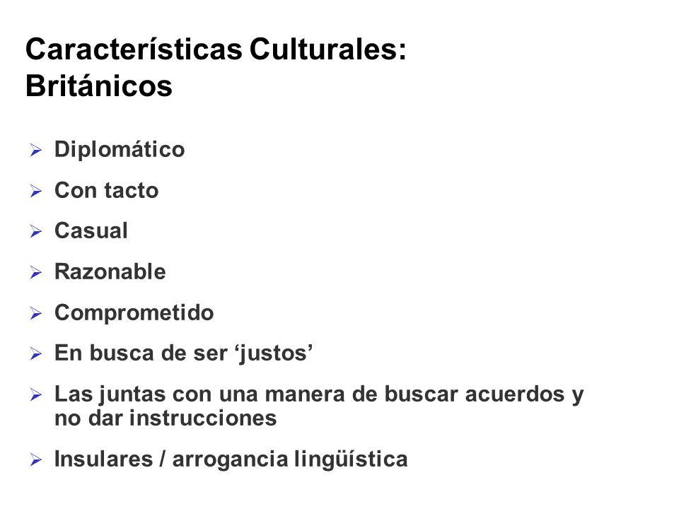 Características Culturales: Británicos