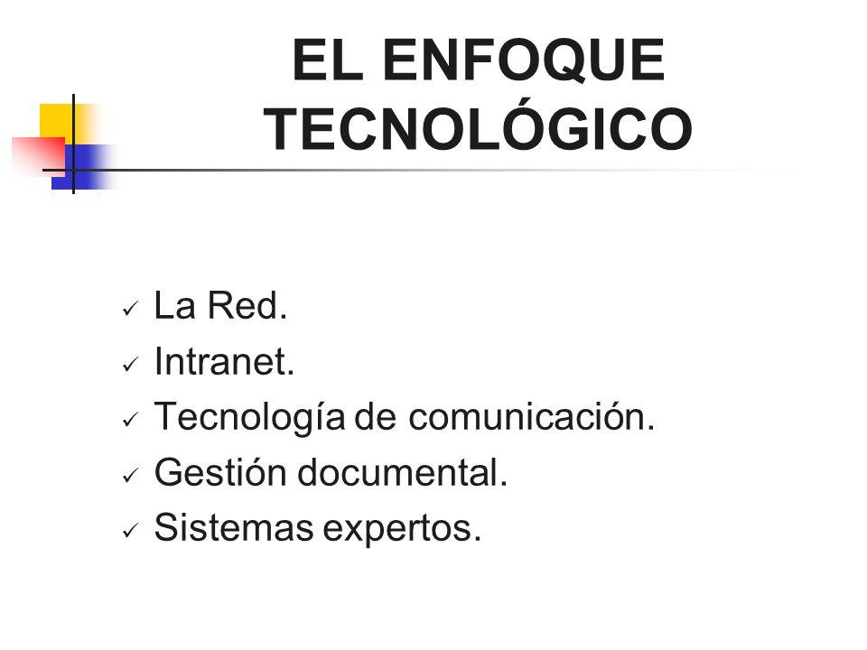 EL ENFOQUE TECNOLÓGICO