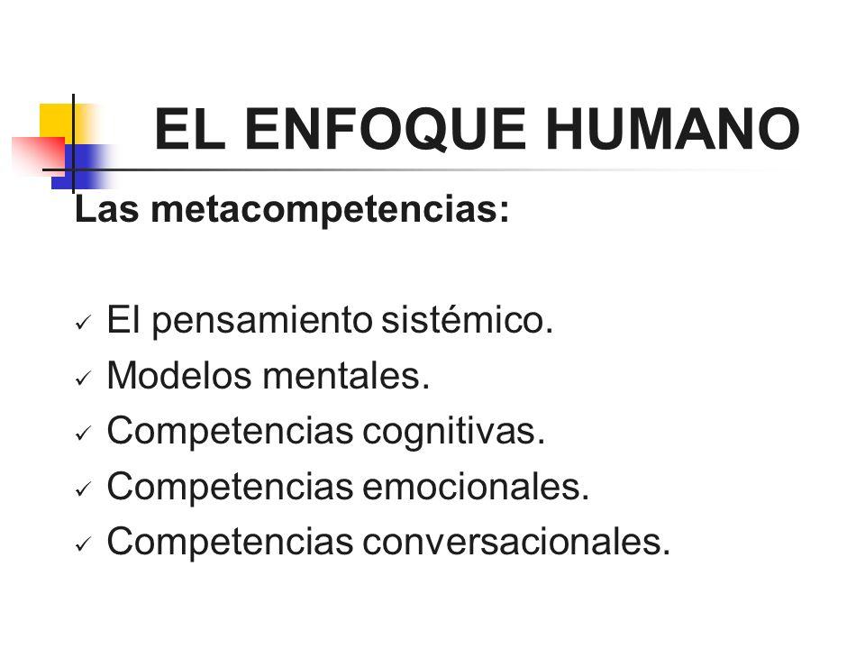 EL ENFOQUE HUMANO Las metacompetencias: El pensamiento sistémico.