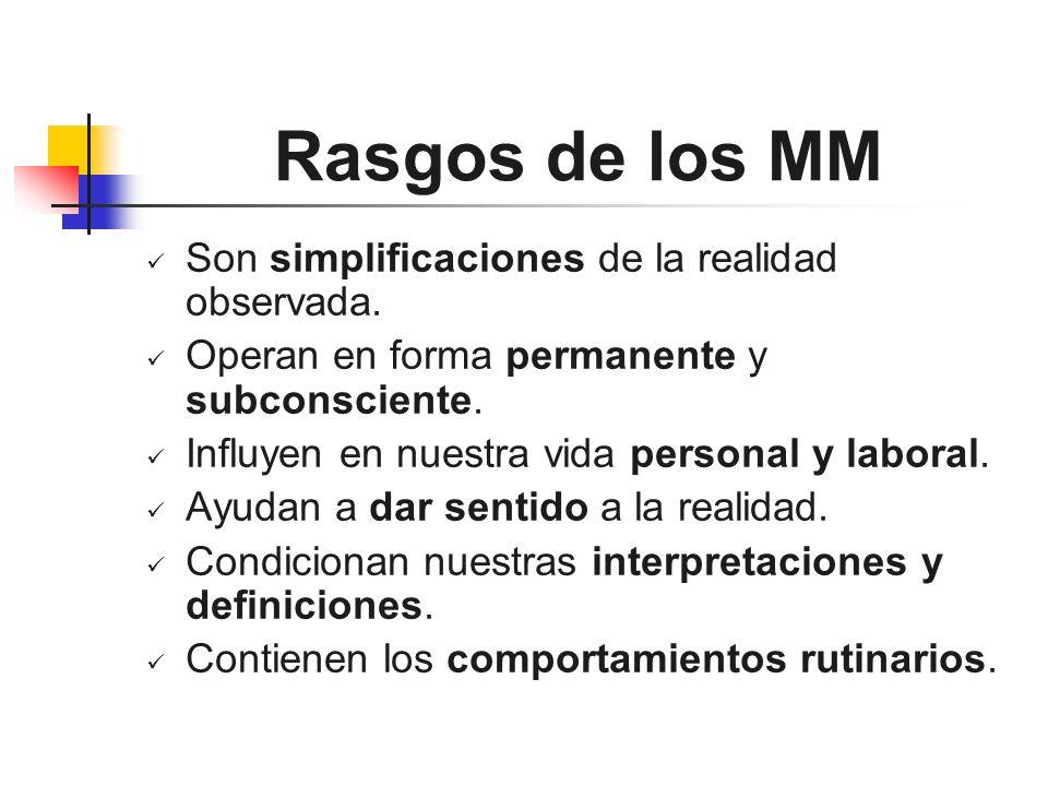 Rasgos de los MM Son simplificaciones de la realidad observada.