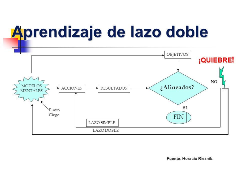 Aprendizaje de lazo doble Fuente: Horacio Rieznik.