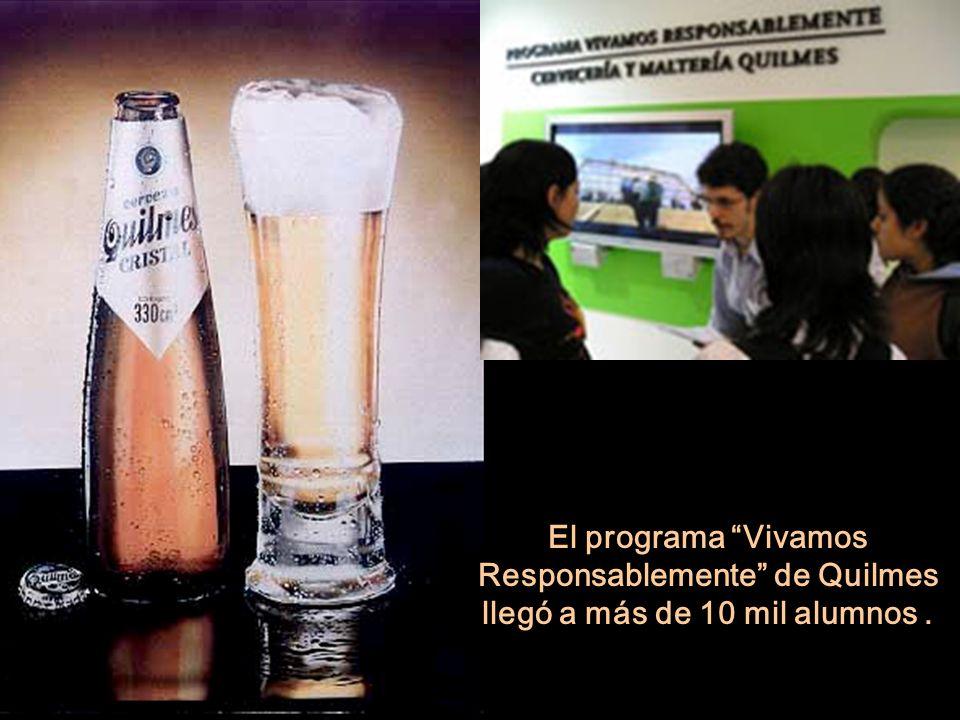 El programa Vivamos Responsablemente de Quilmes llegó a más de 10 mil alumnos .