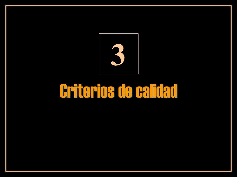 3 Criterios de calidad