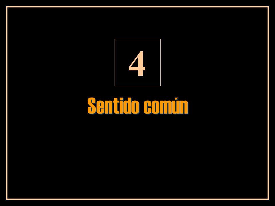 4 Sentido común
