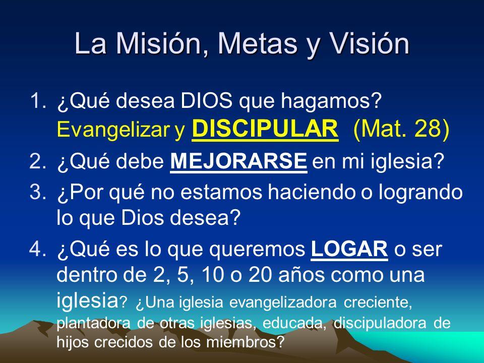 La Misión, Metas y Visión