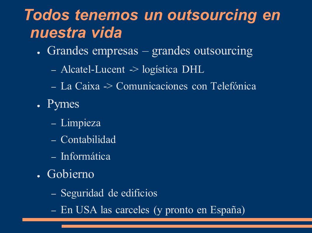 Todos tenemos un outsourcing en nuestra vida