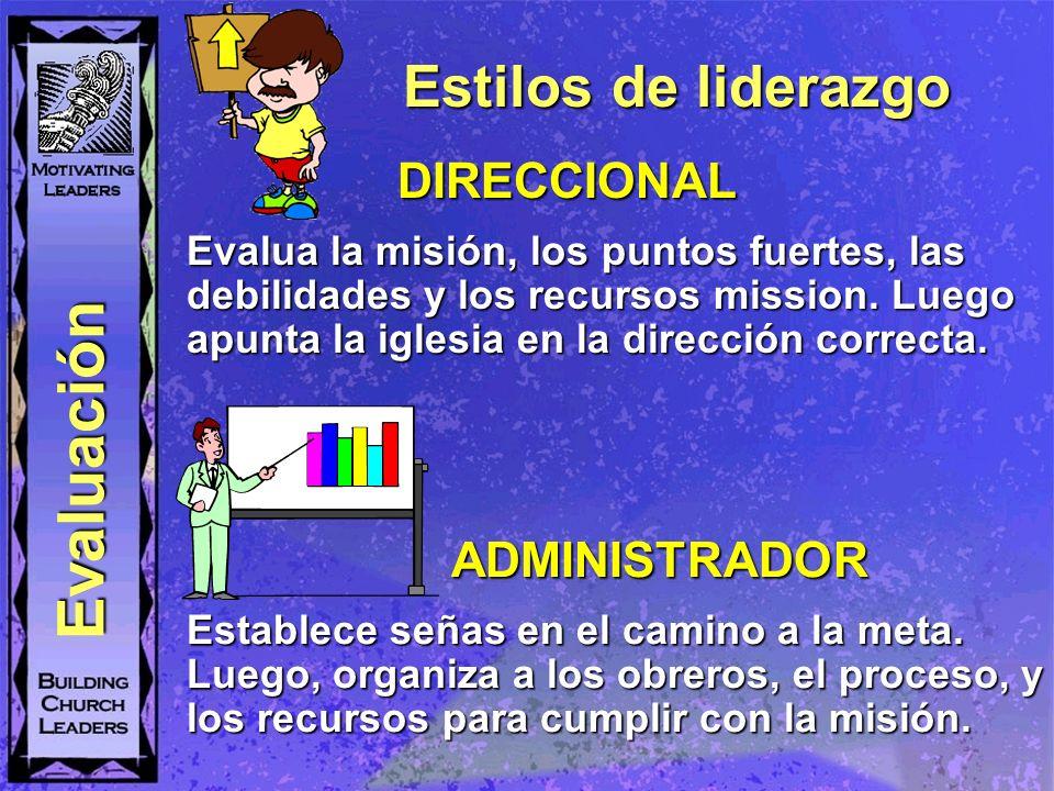 Evaluación Estilos de liderazgo DIRECCIONAL ADMINISTRADOR