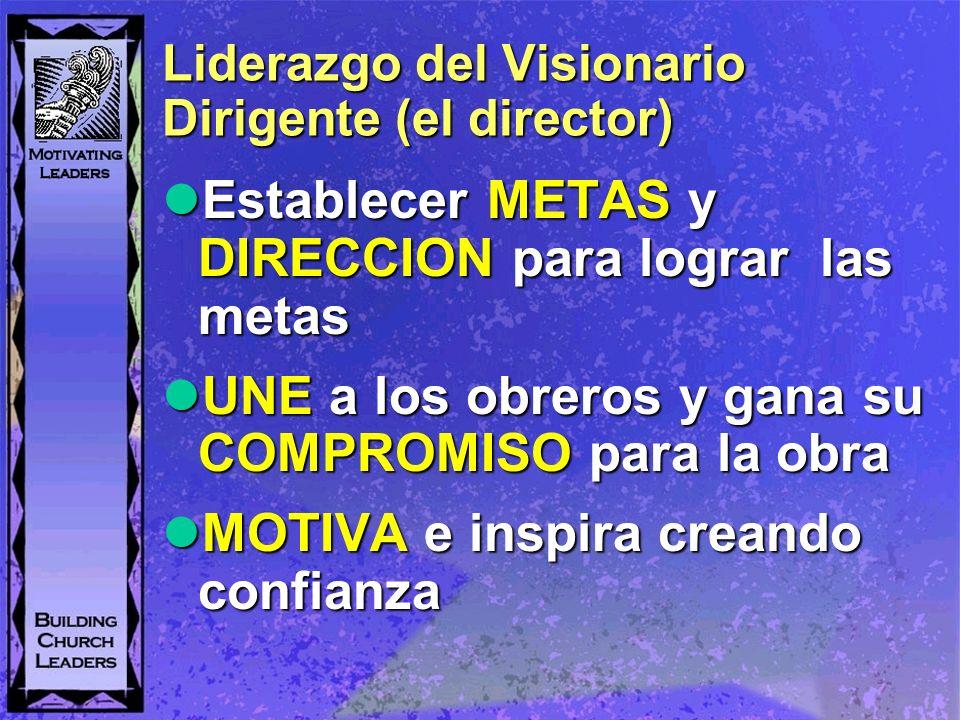 Liderazgo del Visionario Dirigente (el director)