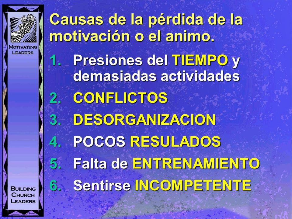 Causas de la pérdida de la motivación o el animo.