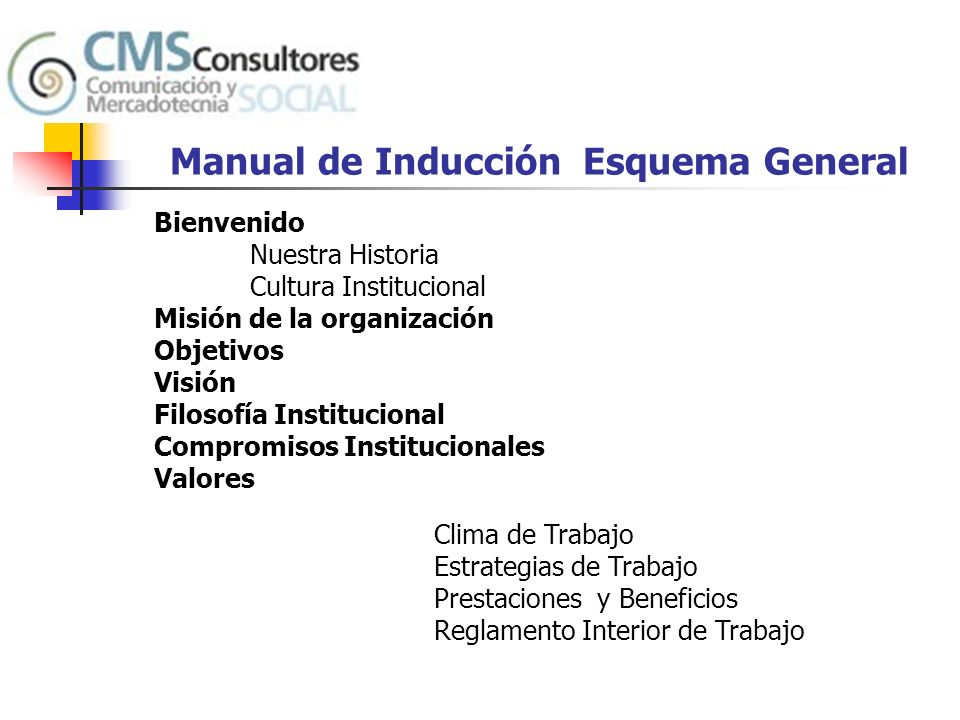 Manual de Inducción Esquema General