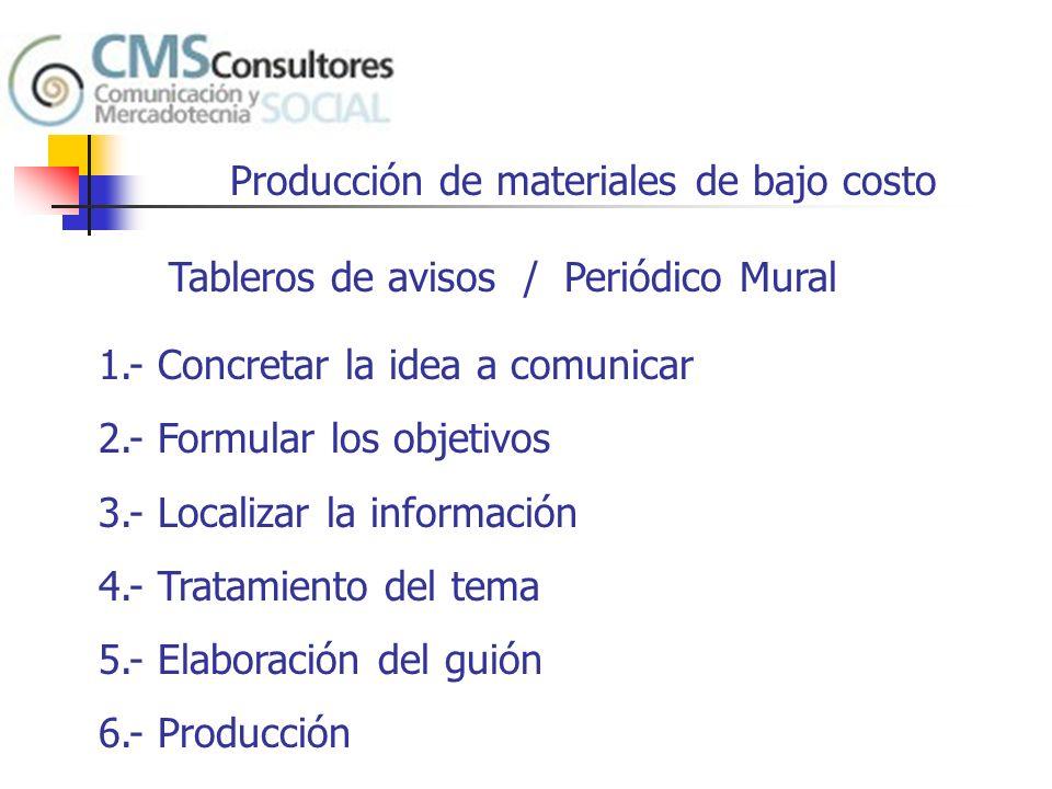 Producción de materiales de bajo costo