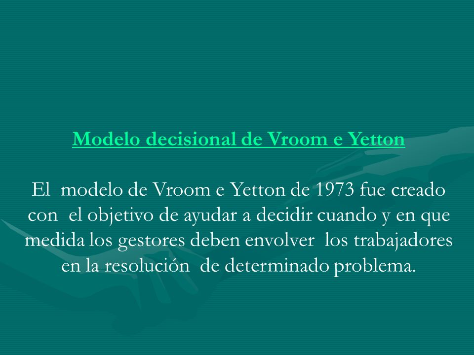 Modelo decisional de Vroom e Yetton