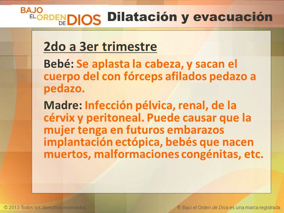 Dilatación y evacuación