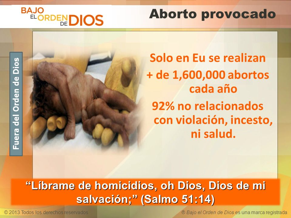 Líbrame de homicidios, oh Dios, Dios de mi salvación; (Salmo 51:14)