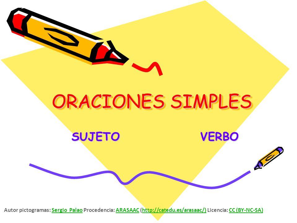 ORACIONES SIMPLES SUJETO VERBO